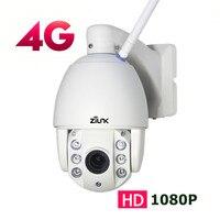 ZILNK 3g 4G sim карта наружная PTZ купольная ip камера 1080 P мм 13,5 2,7 мм Автоматический зум ночного видения 60 м видеонаблюдения беспроводная wifi камера