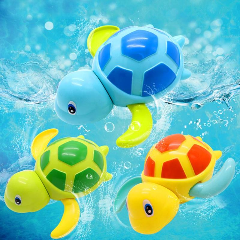 Classic Toys Swimming Pool Play Bathing Toy New Babies Swim Turtle Wound-up Chain Small Animal Baby Children Bath Toy