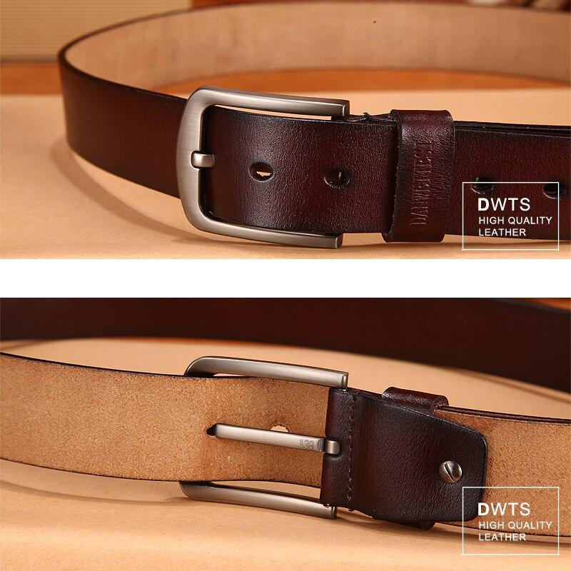[DWTS]men's belt leather belt men male genuine leather strap luxury pin buckle fancy vintage jeans cintos masculinos 2