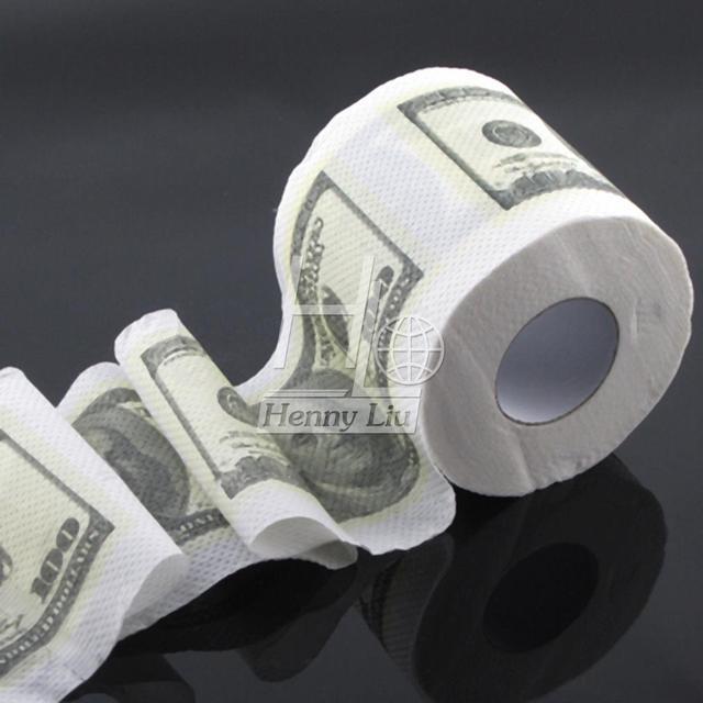 1pc One Hundred Dollar Bill Money Toilet Roll Toilet Paper Novelty ...