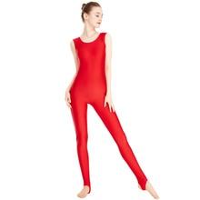 363bbe4b51 Women s Lycra Spandex Dance Yoga Gymnastics Catsuit Tank Unitard Stirrup  Sleeveless Leotard Full Body Bodysuits Ballet