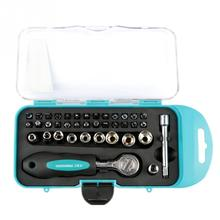 38 pieces / set of multi-function ratchet screwdriver sleeve screw drill tool kit ratchet socket wrench screwdriver drill kit