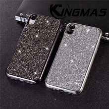 KINGMAS Deluxe phone case Diamond Case for iphone X XR XS MAX Soft Case for iphone 7 8 Plus Sparkle Case