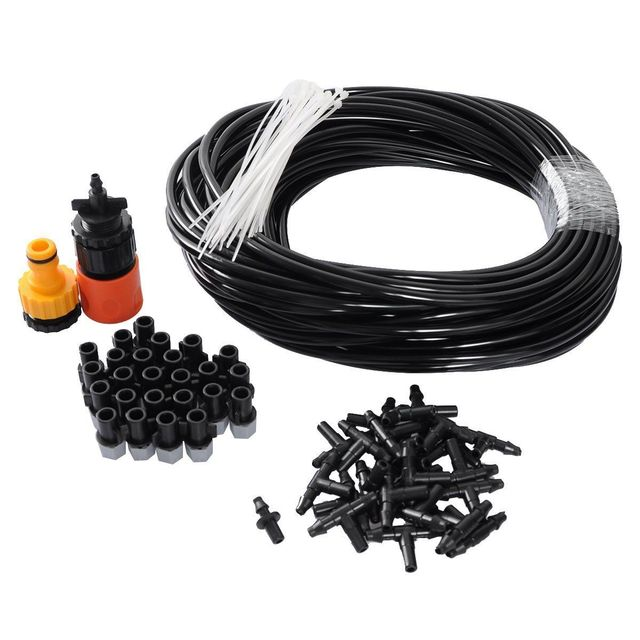Plastic Water Misting Atomizing Set Patio Lawn Cooling Air Spray Hose Sprayer Outdoor Garden Irrigation System