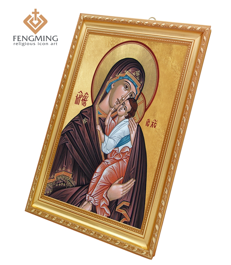 orthodox church supplies wall decoration religious pictures virgin mary and jesus in plastic frame christian gifts byzantine art
