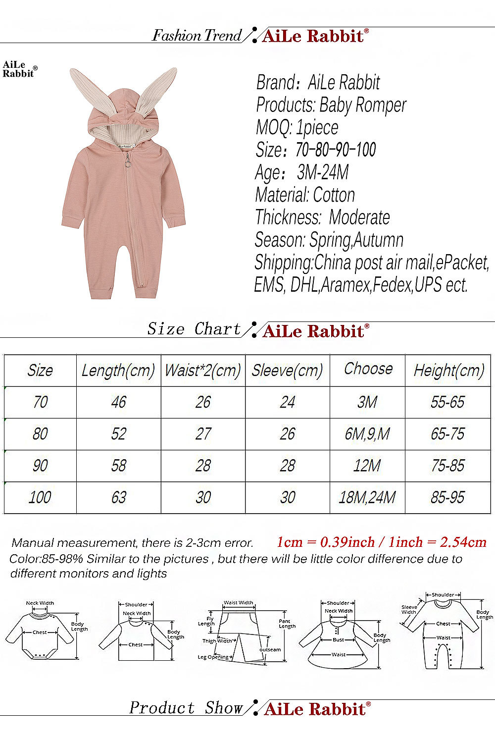 HTB1IEJhaUz1gK0jSZLeq6z9kVXaM New Spring Autumn Baby Rompers Cute Cartoon Rabbit Infant Girl Boy Jumpers Kids Baby Outfits Clothes
