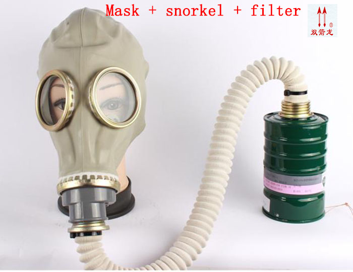64 Tipo de Uma máscara de gás respirador máscara de gás contra gás sulfeto  de Hidrogênio estilo clássico combinação respirador máscara a6da768bdf