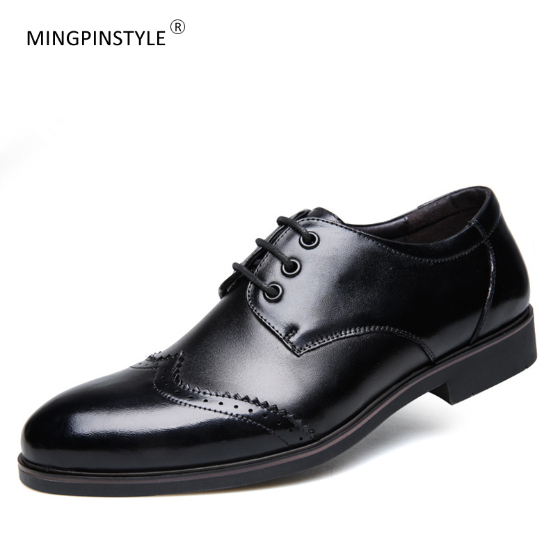 a4fcbed8f Detail Feedback Questions about Classic Men's Dress Shoes Black Brown Lace  up Wedding Shoes Cow Leather Brogue Shoes Fashion Mens Business Party Shoes  on ...