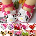 baby shoes infant shoes wholesale unisex soft yarn knitted handmade baby shoes free shipping 2015 KS002R