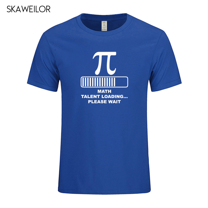Math Talent Loading Funny Creative Pi T-shirts Men Summer Short Sleeve Cotton T Shirt Geek Tee Camisetas Masculina