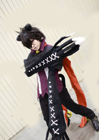 Pandora Hearts Cheshire cosplay Costume with tail and gloves