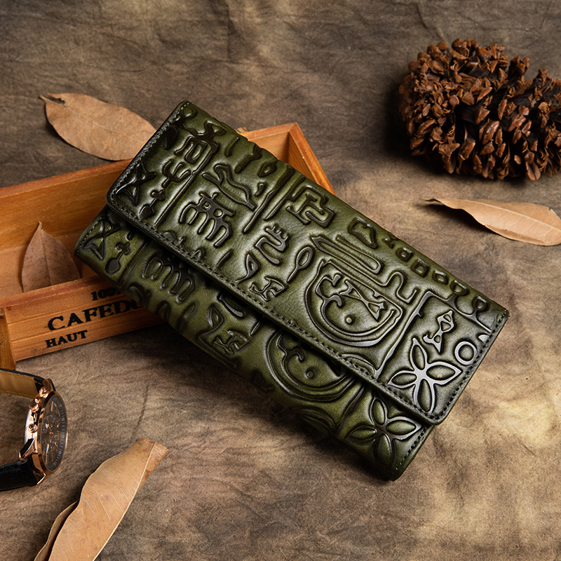 Genuine Leather Snap Closure Wallets 2019 Latest Long Clutch Women Cell Phone Coin Purse with Card