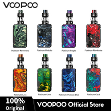 VOOPOO Drag Mini PLATINUM Mod Box 117W Vape Kit 5ml Capacity Uforce T2 Tank Vaporizer 4400mAh Battery E Cigarette voopoo drag mini kit 117w resin vape box mod with uforce t2 tank p2 coil 4400mah built in battery gene fit chip vs drag 157w