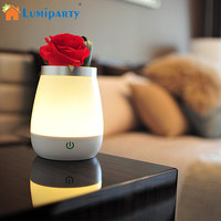 LumiParty Creative LED Bedlight Touch Desk Lamp Micro USB Charging Decorative Vase Lamp Atmosphere Light