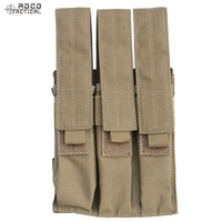 ROCOTACTICAL Tactical Triple Mag Pouch For KRISS MP7 Magazine Military Molle Triple Magazine Pouch Black Coyote