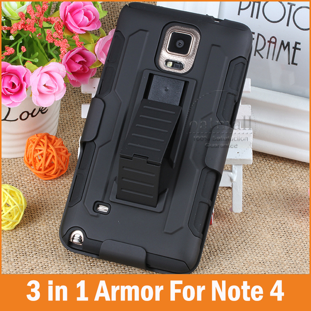 sports shoes ffacf f347e US $3.99 |Tough Hybrid Armor for Samsung Galaxy Note 5 case Note5 3 in 1 3D  Kickstand Belt Clip Military Style Note 4 5 Cover Phone Bags-in Holsters &  ...