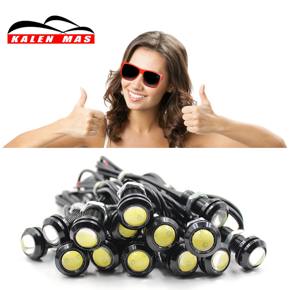 KALEN MAS 1pcs 18mm 1.5W Led Super High Bright Car light Daytime Running Lights Drl Waterproof Signal Reverse Lamp Car styling