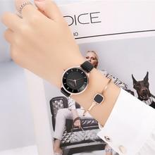 高級ブランドカレンチャームラインストーン腕時計レディースドレスアナログクォーツ時計女性レザー女性時計ローブバヤン kol saati