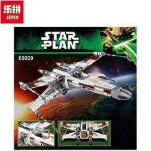 Lepin 05039 StarWars Serie Rojo de cinco X-wing starfighter Modelo Building Blocks Classic Compatible Juguete para los niños