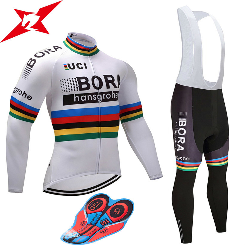 2017 Spring/<font><b>Autumn</b></font> Team Pro BORA Cycling Jersey <font><b>Set</b></font> Ropa Ciclismo MTB Cycling Wear Breathable Bike Clothing #625