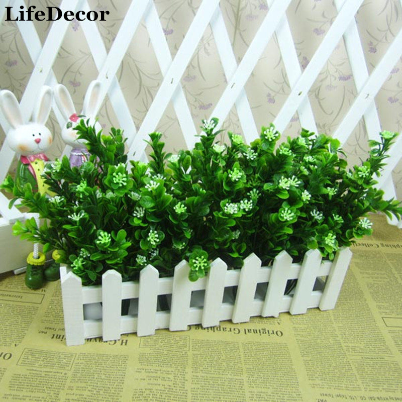 2pcs/lot Rustic Green Artificial Plant 7 Branches Aglaia Plastic Leaf Grass Bush Home Decoration Flowers free shipping