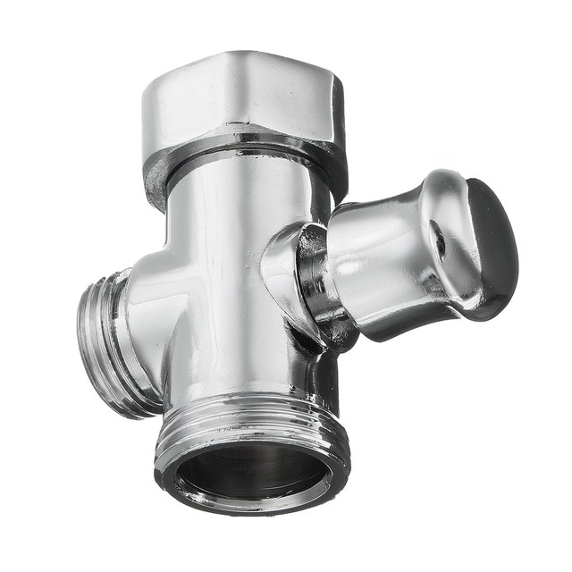 3 Way Shower Head Diverter Valve 3/4 &1/2 BSP Tee Connector ...