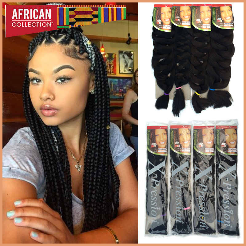 Crochet Braids Xpression Hair Extension Super Long 82inch ...