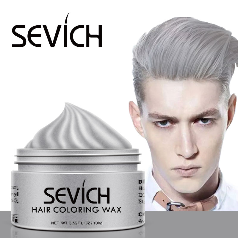 Sevich hair color wax hair dye permanent hair colors cream unisex strong hold grandma grey disposable pastel dynamic hairstyles  1