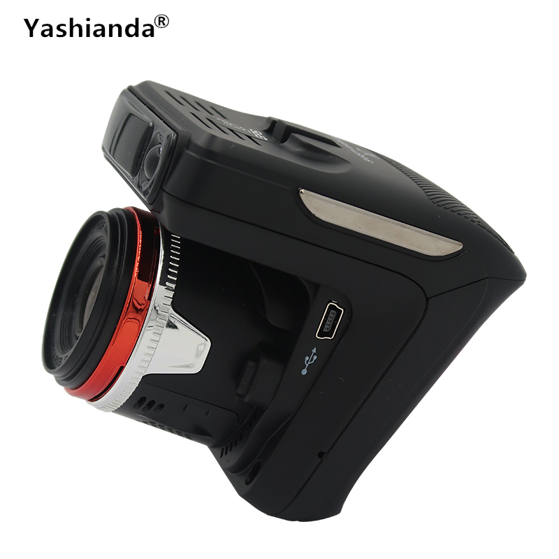 Yashianda 2 In 1 Car DVR Radar Detector GPS Vehicle Camera HD 1280P Speed Cam Anti Radar Detectors Dashcam Russia English Voice