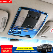QCBXYYXH Car-styling Car Interior Frame Decal Reading lights Frame Sequins Auto Stickers Decorations For Toyota Prado 2010-2018