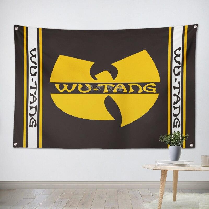 Wu Tang Clan HipHop musique bande équipe Logo tissu affiche bannières quatre trous drapeau dortoir chambre décoration murale