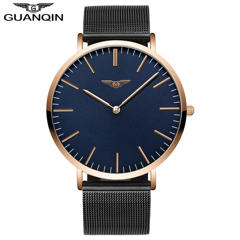 Guanqin Mens Watches 2017 Brand Luxury Quartz Ultra Thin