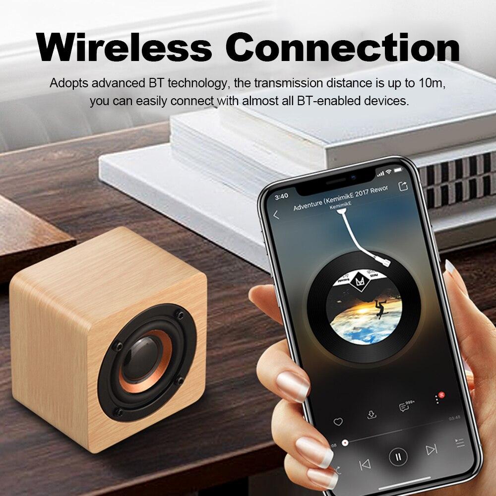 Wooden Bluetooth Speaker - Subwoofer Strong Bass Magic Cube 2