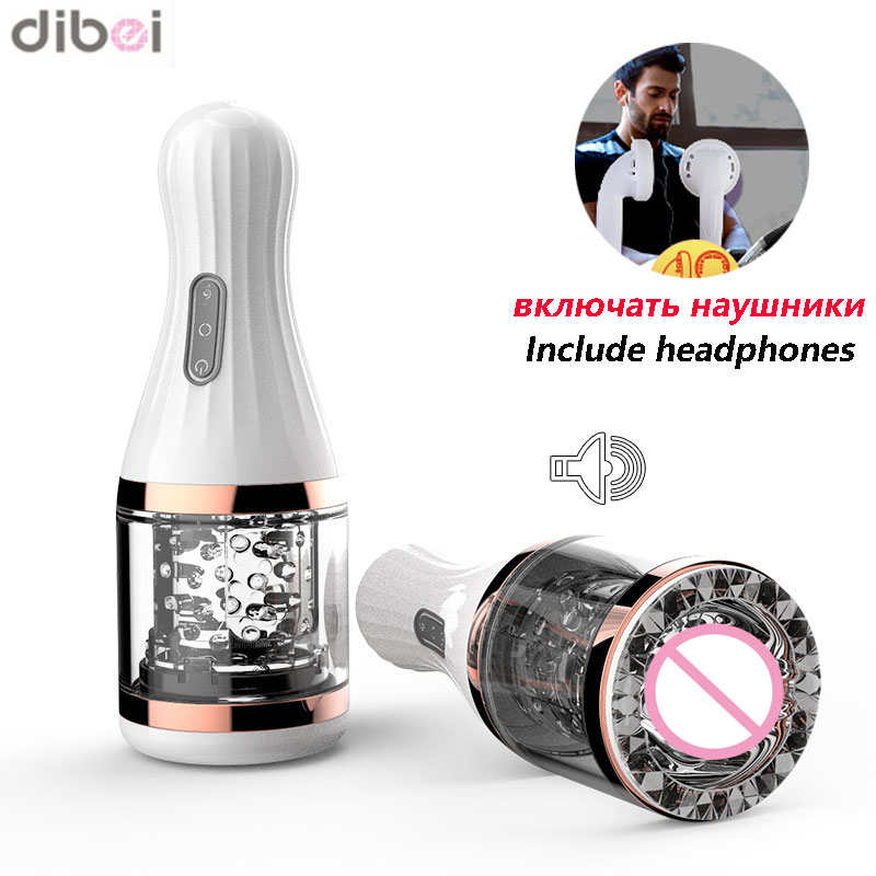DIBEI Electric Sex Products 7 Speed Rotation Male Masturbator Voice Interaction Sex Toy Artificial Vagina Adult Sex Toys for Men masturbation cup electric air float induction sex moan interaction male masturbator strong vagina sucker adult sex toys for men