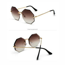 KAPELUS Hexagonal Rimless Sunglasses Women's Sungla
