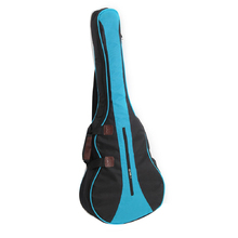 "Protective 600D Oxford Cloth 36"" Backpack Big Bag Carry Case For Ukulele Acoustic Guitar Durable Black+Blue"