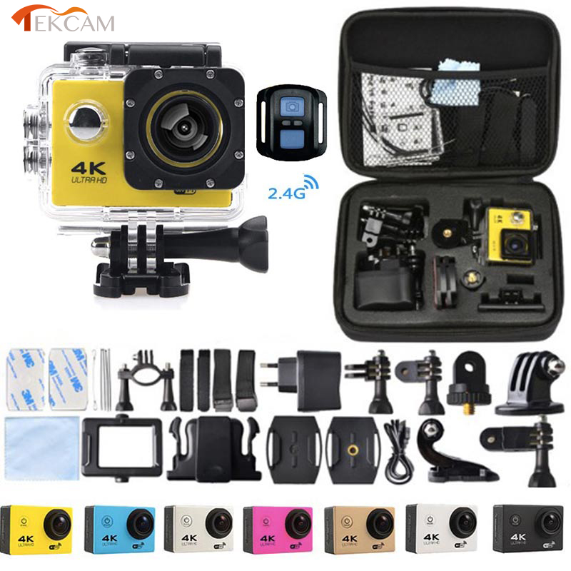 Caméra d'action à distance Tekcam F60R 4 k WIFI 1080 p HD 16MP GO PRO Style casque caméra 30 mètres étanche sport DV caméra