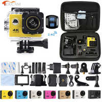 Tekcam f60r 4k wifi câmera de ação remota 1080p hd 16mp ir pro estilo capacete cam 30 metros à prova ddv água esportes dv câmera