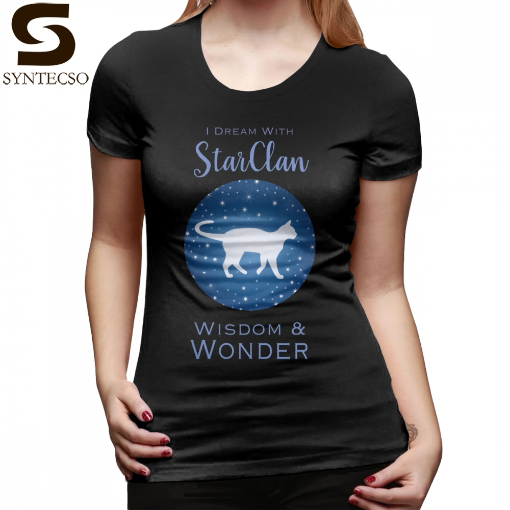 04b48ede0 Warrior Cats T-Shirt StarClan Dreams T Shirt Street Wear O Neck Women tshirt  Printed