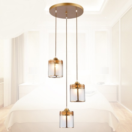 Europea tre pezzi lampade pendenti di rame singolo luci ristorante bancone  bar illuminazione tre lampade a sospensione LU626 ZL96