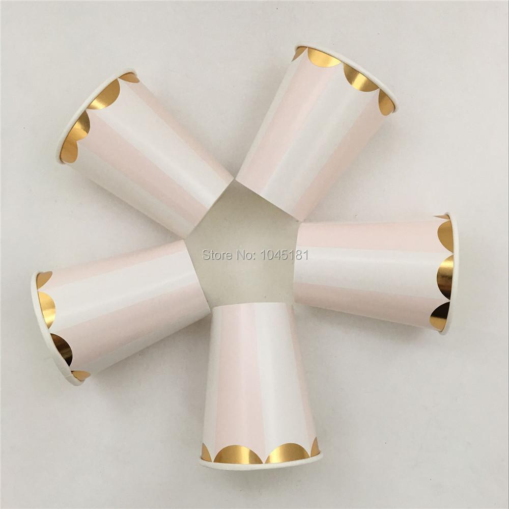 oz rosa pastel rayas tazas de papel para fiestas de cumpleaos fiestas duchas especiales
