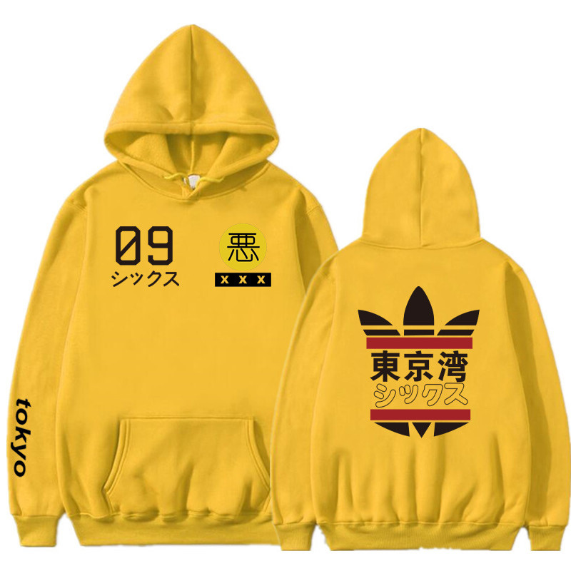 2019 New Men Women Hoodies Harajuku Spring Sweatshirts Tokyo Bay Hoodies Outwear Fashion Rubber Powder Hip-Hop Boys Clothes