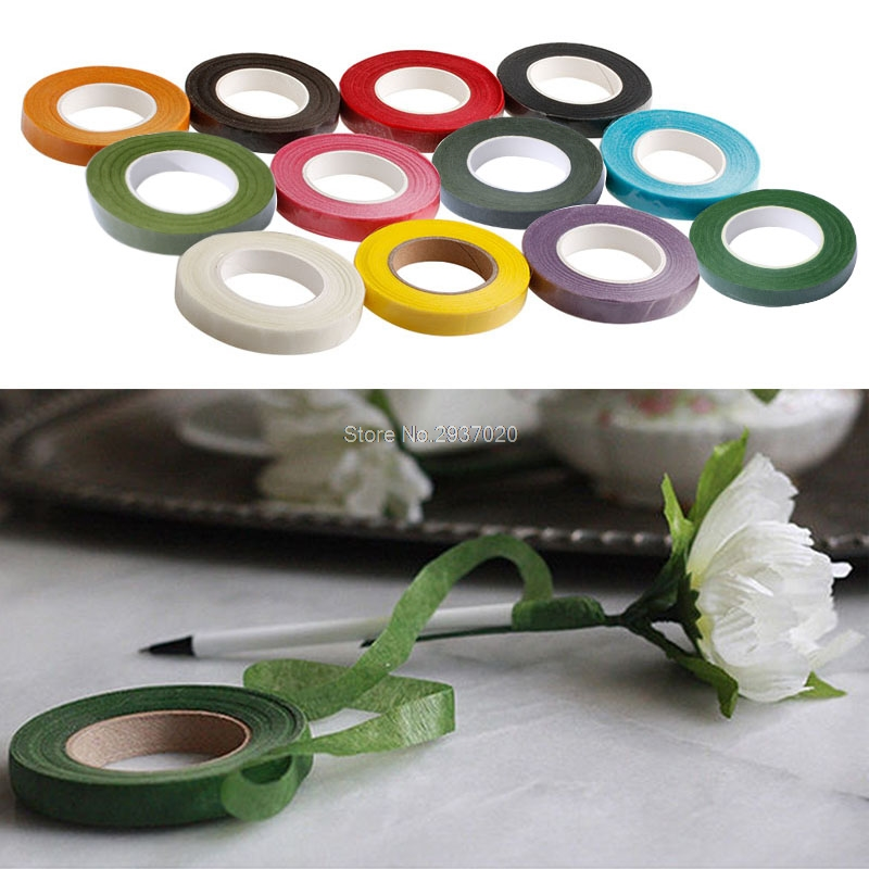 Floral Stem Tape Corsages Buttonhole Artificial Flower Stamen Wrap Florist Green Tapes D14