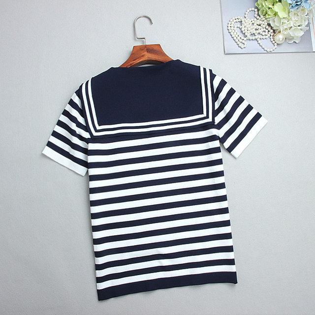 Tienda Online Camiseta femenina del verano Navy marinero estilo ...