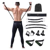 Resistance Bands Set Crossfit Basketball Arm Exercise Bounce Jump Speed Waist Pull Rope Agility Leg Training Taekwondo Boxing