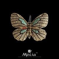 Kelebek broş klip ediniyor broches takı moda 2017 antik bronz kaplama vintage kadınlar için broochs büyük broşlar elbise