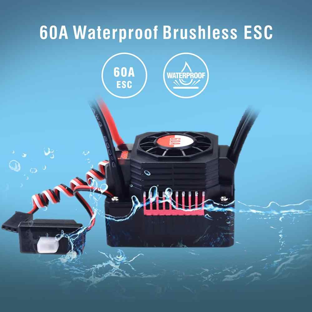 150A 120A Водонепроницаемый регулятор скорости ESC KK 35A 45A 60A 80A для 1/8 1/10 1/12 RC Monster Redcat Volcano EPX Blackout XTE Buggy