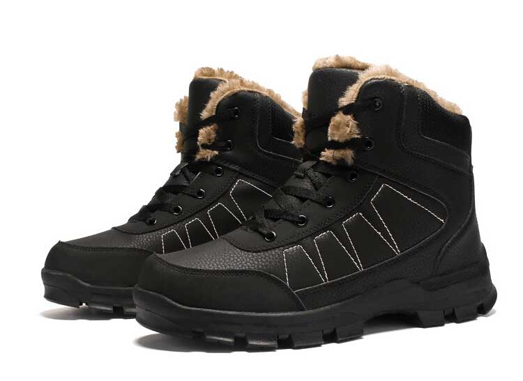 Boot Dos Sapatos marrom Escalada Veludo Chaussure Homem Ar Botas Masculino Calçado Inverno Moda Preto Quentes Tamanho Livre Ao 45 Ankle De Homens 46 ZwXq0ax