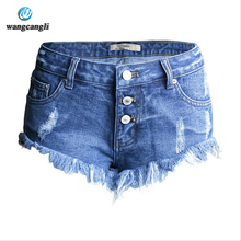 women jeans 2017 spring summer section of the irregular cat to fleece side of the cowboy low waist pants shorts feminino jeans