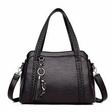 Женские сумки через плечо модные женские сумки из натуральной кожи сумки из мягкой овчины с кисточками женские сумки на плечо